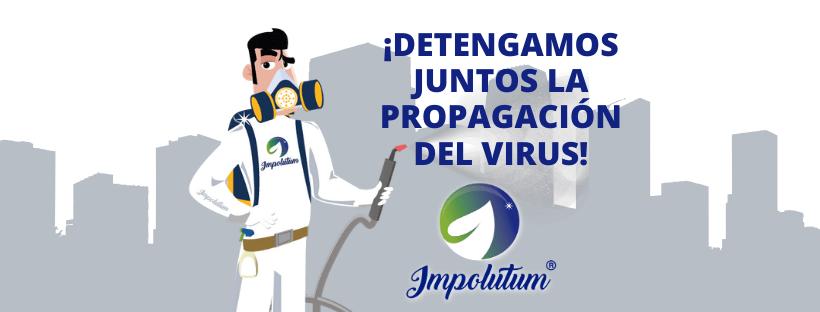 Mr Impoluto trabajando por detener la propagación del virus
